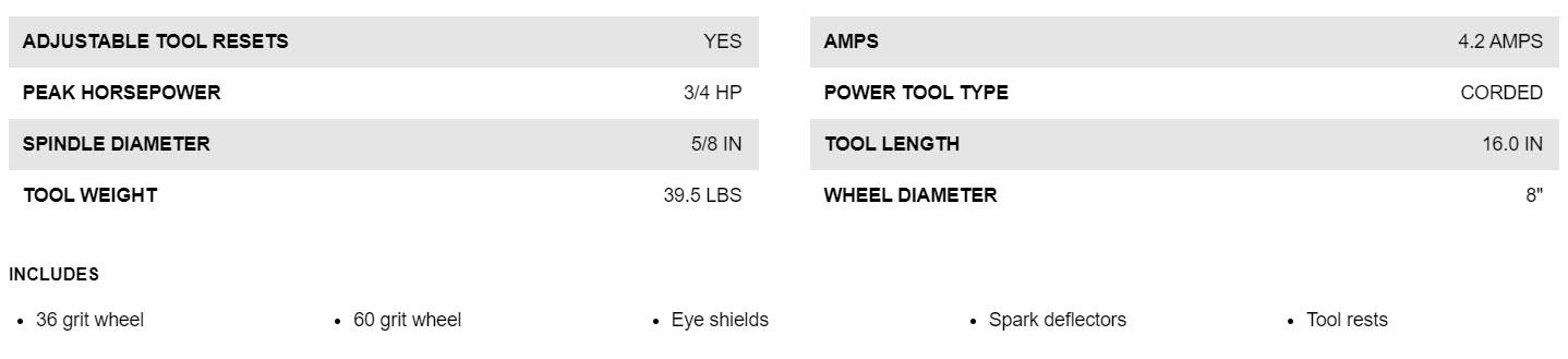 DW758 SPECIFICATION